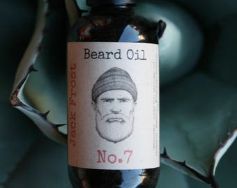 Beard Oil 2oz - Handmade - Jojoba and Safflower Oil, Wintergreen, Spearmint and Peppermint Essential Oils