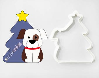 Christmas Dog 7 Cookie Cutter