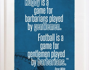 Rugby is a game for Barbarians - Print
