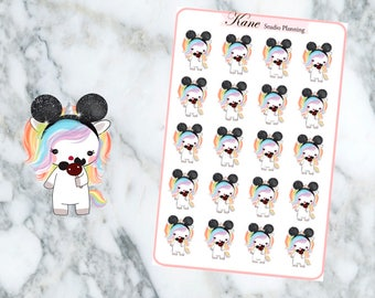 Mouse Unicorn Planner Stickers