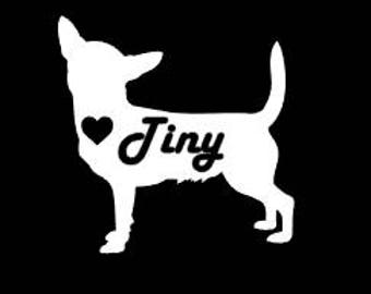 Chihuahua Car Decal, Chihuahua Decal, Dog Car Decal, Pet Car Decal, Laptop Decal