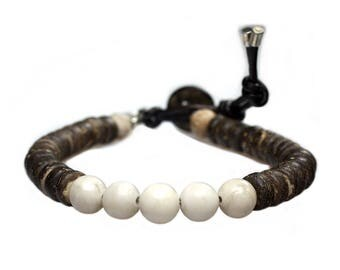 Bracelet fossil & coconut 290