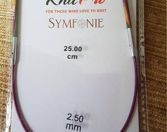 Knitpro 25cm mini circular knitting needle 2.50mm
