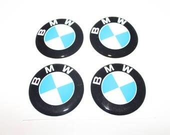 """ON SALE! 4pcs. set 60 mm.""""BMW"""" Centre wheel stickers,emblems,badges"""