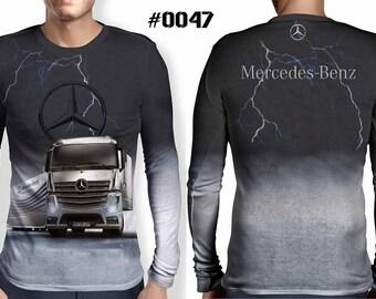 "Fantastic longsleeved men's 3D shirt ""mercedes track"""