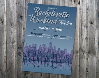 Customizable City Bachelorette Party Invitation | NYC Bachelorette Party