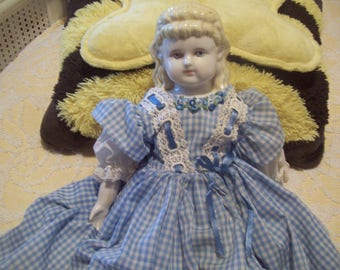 Hand Crafted Frozen Charlotte Doll