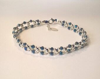 Yana Irina way square link bracelet