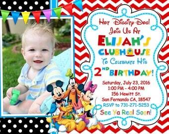 Mickey Mouse Clubhouse Invitation Printable, Mickey Mouse Clubhouse Birthday Party Mickey And Friends Invitation