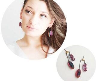 Long earrings. New earrings. 2018 jewelry.