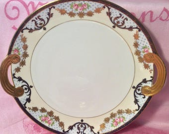 Pretty in Pink Nippon Handled Cake Plate