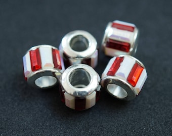 5 European STYLE beads in silver