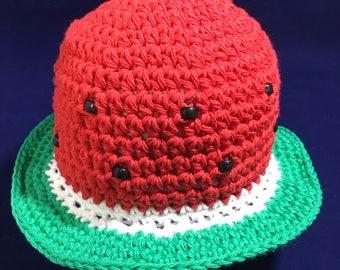 Brimmed Watermelon Hat