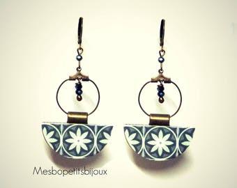earrings of Bohemian style, mosaic inspiration