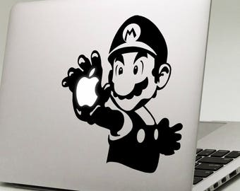 """SUPER MARIO HAND MacBook Decal Sticker fits 11"""" 13"""" 15"""" and 17"""" models"""