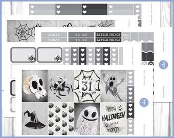 Halloween Night Weekly Kit   October Weekly Kit   Halloween Planner Stickers - Erin Condren Planner Weekly Kit