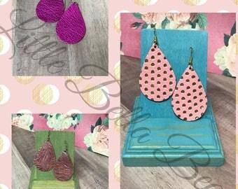 A little flair of pink Teardrop Earring