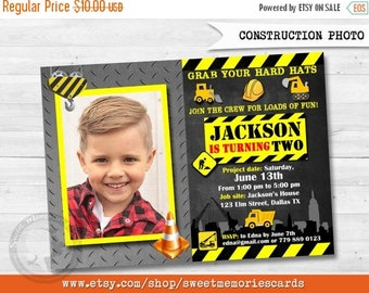 50% OFF SALE Construction Birthday Invitation, Construction Party, Construction Birthday, Boy, Construction Invitation, Dump Truck Birthday