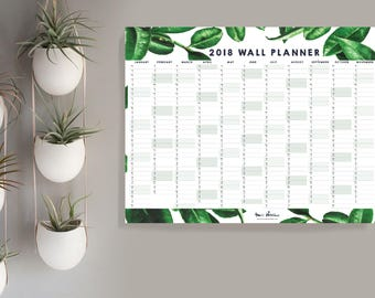 Calendar Wall Planner 2018 Amazone - Instant Download