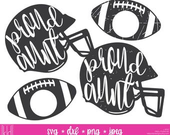 4 Proud Aunt svgs - Football Aunt - Aunt svg - Football Helmet svg - Aunt Shirt svg - Football Monogram svg - Football Aunt svg