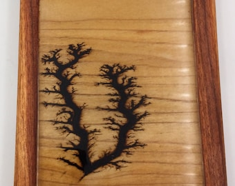 Small Lichtenberg Figure Art Print - Poplar and Rosewood