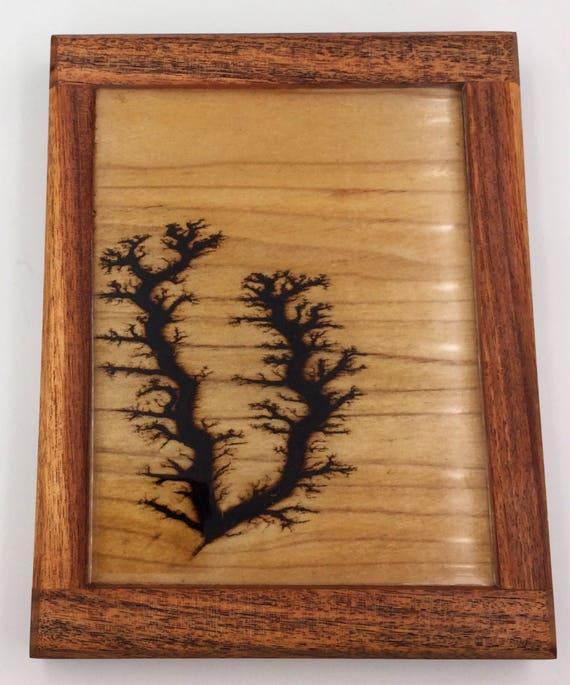 Small Lichtenberg Figure Art Print - Poplar and Rosewood