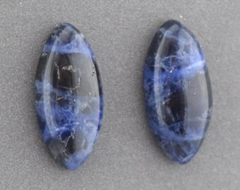 Marquise Sodalite Cabochon Pair