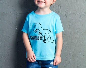 ON SALE Rawr Dinosaur, T-Rex, Toddler T-Shirt in 11 Different Colors in Sizes 2T-5/6