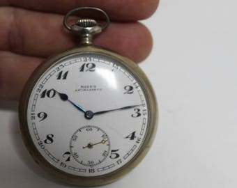 Vintage pocket watch Porcelain dial