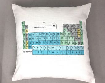 Yorkshire Periodic Table Chemistry school Cushion and Inner Yorkshire Gift Pillow funny