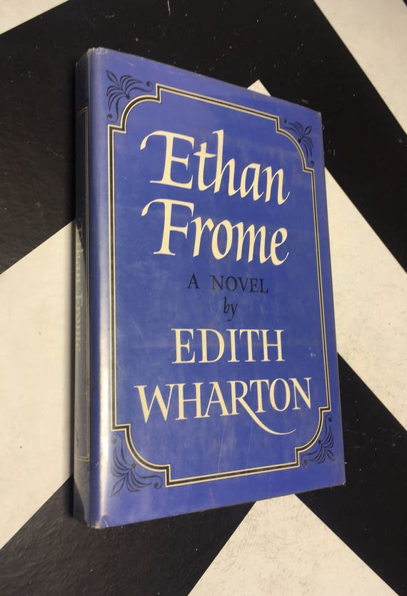 Ethan Frome: A Novel by Edith Wharton vintage blue classic fiction book (Hardcover, 1964)