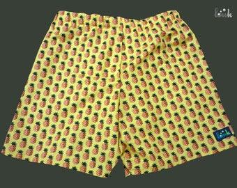 Caleçon homme jaune à motifs ananas