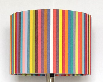 Rainbow Lampshade, colorful decorative rainbowcolors striped stripes stripe pattern abstract modern bright contemporary handmade