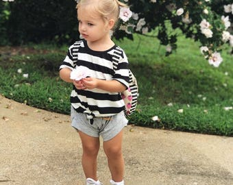 Baggy stripe tee with shorties | baby clothes | baby clothes set