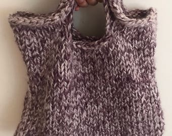 Reusable bag, handmade, knitted market bag