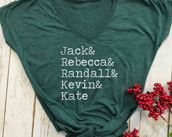 Jack and Rebecca Randall Kevin and Kate shirt- this is us shirt- this is us- this is us womans shirt- this is us top- this is us tv show