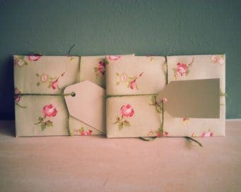 Beautiful Handmade Fabric Envelopes with blank card insert - ideal for invitations, gift vouchers, your own handmade cards