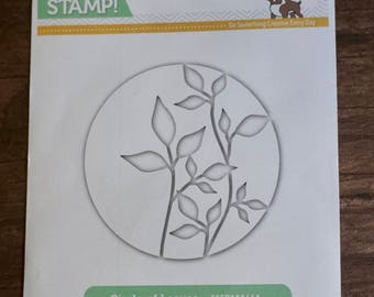 DESTASH: Simon Says Stamp CIRCLE LEAVES Wafer Die