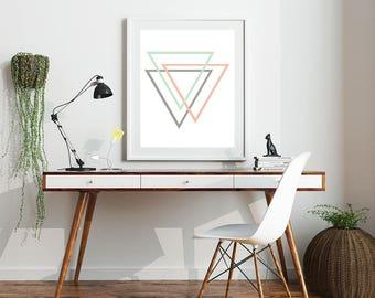 Triangle Print - Triangle Sign - Geometric Print - Triangle Art - Nordic Print - Minimalist Print - Instant Download - Printable