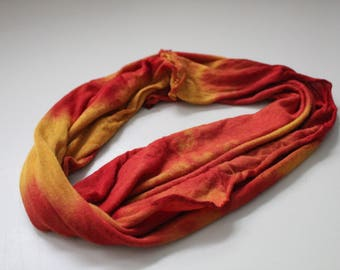 Yellow and red tie dye - size extra large - handmade headband