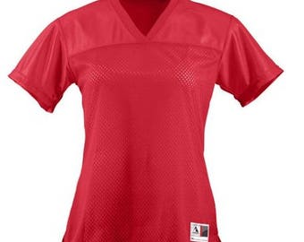 Customized Ladies V-Neck Junior Fit Football Jersey
