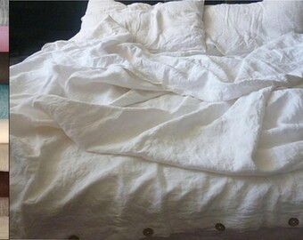 Duvet cover Linen white,linen bedding,natural organic duvet cover,flax bedding,linen duvet cover queen,linen duvet cover king