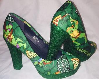 Teenage Mutant Ninja Turtles shoes / heels * * * sizes uk 3-8