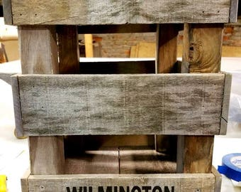 Reclaimed Wood Custom Made 5 Gallon Water Crate Bank