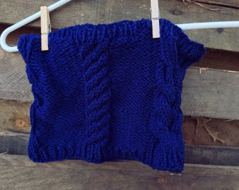 Tall Cable Cowl Knit Pattern PDF