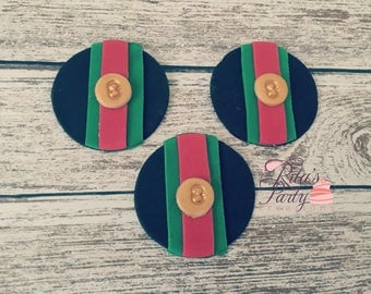 Designer Gucci Inspire Fondant Edible Cupcake Toppers Birthday Baby Shower Fashion Food