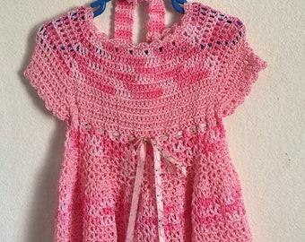 Little girls crochet dress