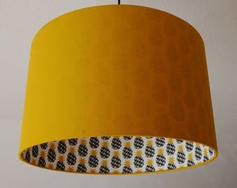 "Lampshade ""Curry yellow pineapple"" (pineapple)"