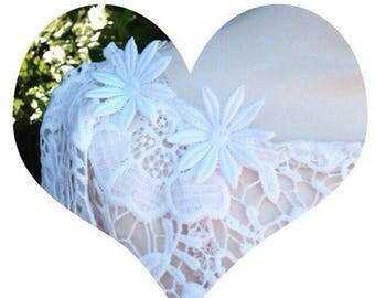 Bolero-wedding cotton lace white shawl