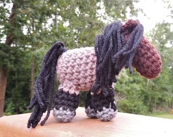 Bay Roan Mini Crochet Pony